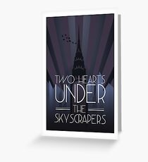 Two Hearts Under the Skyscrapers Greeting Card