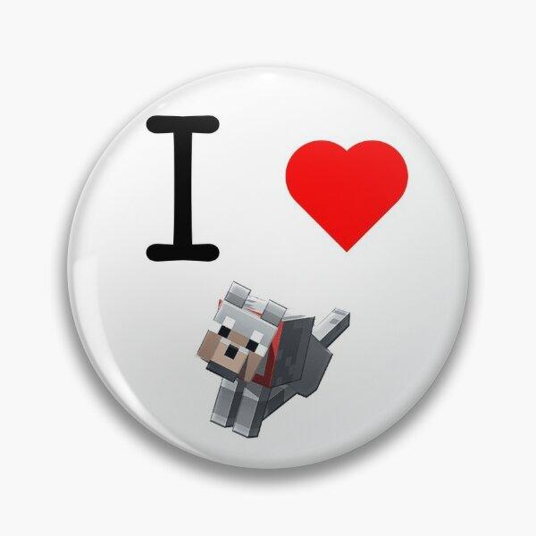 minecraft dog Pin