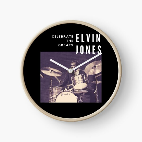 Elvin Jones: Great Jazz Drummer/ Musician Clock