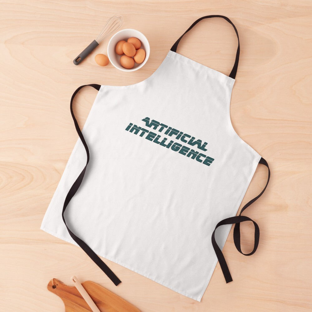 Artificial Intelligence Modern Graphic Apron