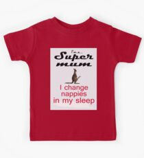 SUPER MUM THREE Kids Clothes