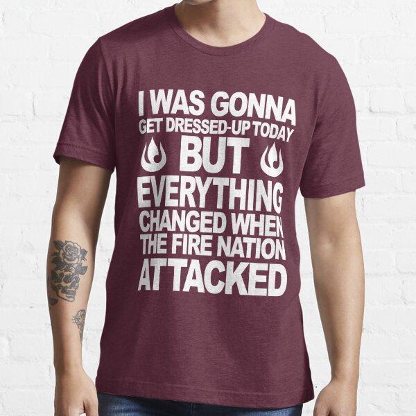 Culpo a la Nación del Fuego por mi pereza Camiseta esencial