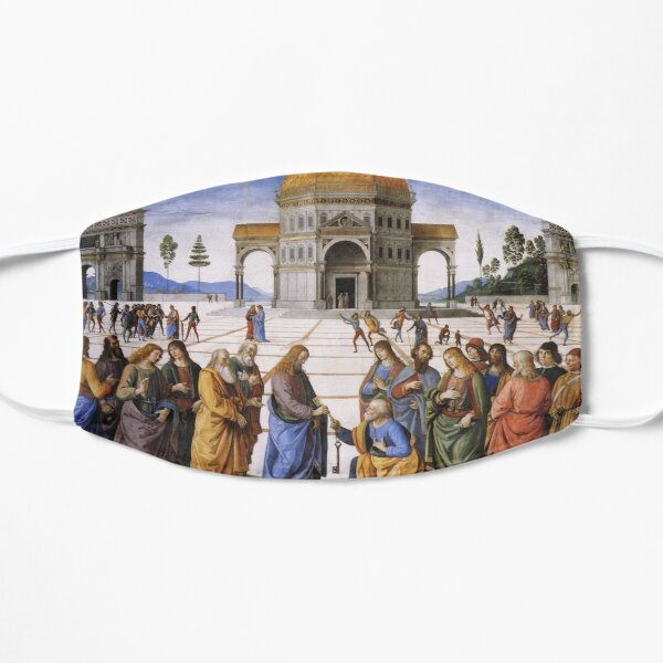The Delivery of the Keys Painting by Perugino Sistine Chapel Flat Mask