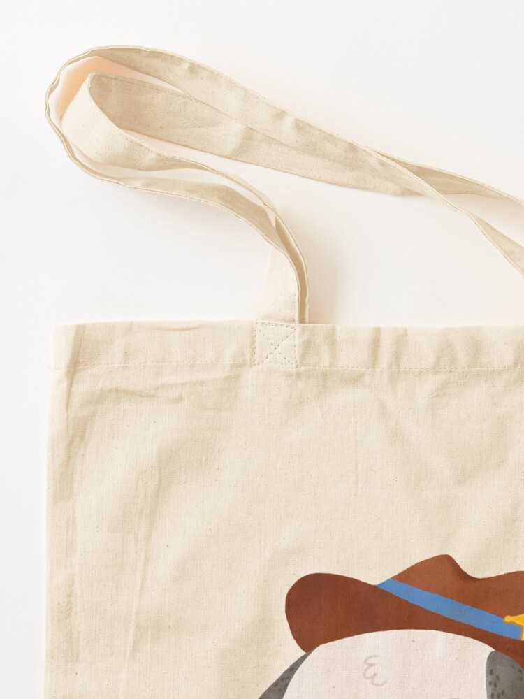 Alternate view of Ted The Dog Sheriff Tote Bag