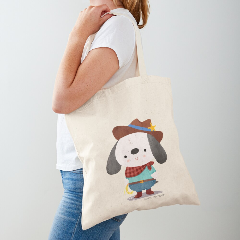 Ted The Dog Sheriff Tote Bag