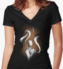 Slendy Women's Fitted V-Neck T-Shirt