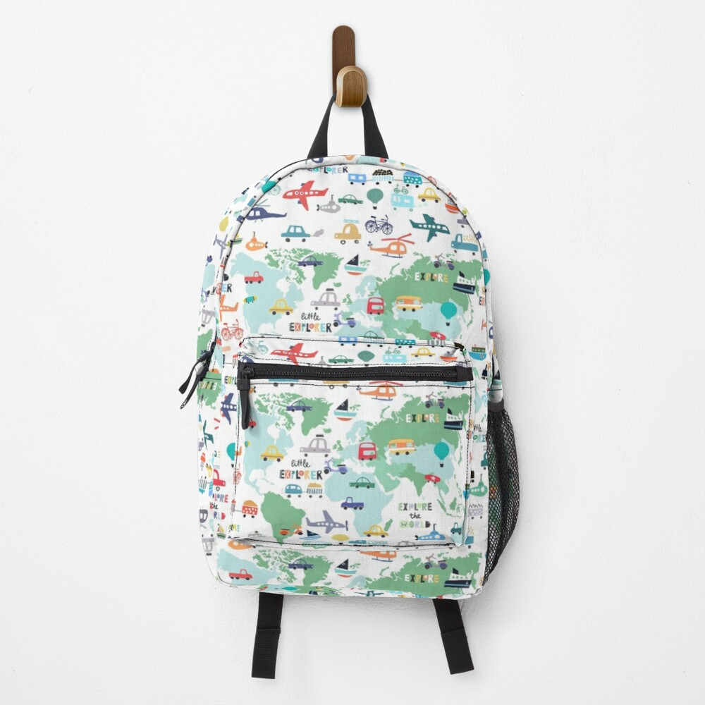 Explore The World Cute Transportation Map Backpack