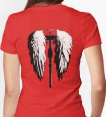 Crossbow wings Womens Fitted T-Shirt