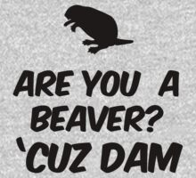Are you a Beaver? Cuz Dam | Unisex T-Shirt