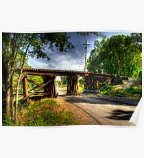 Railroad Trestle Poster
