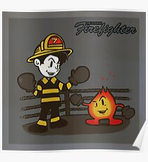 The Literal Firefighter Poster