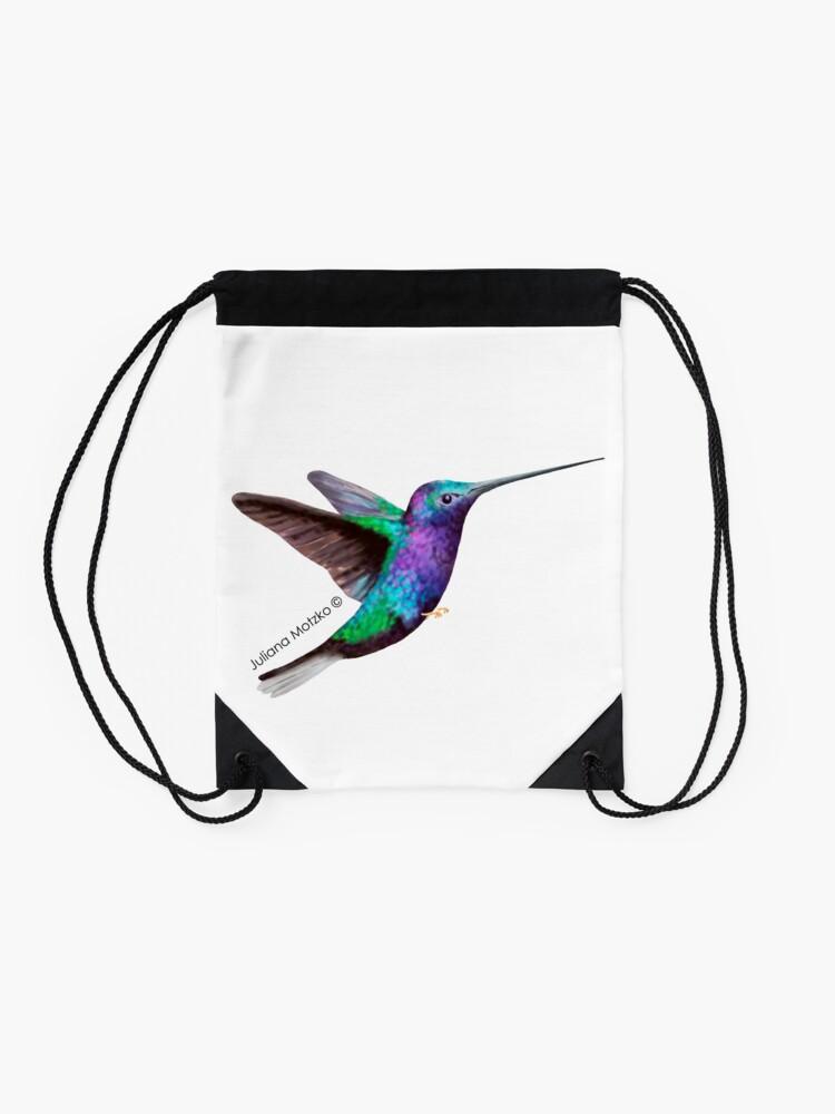 Alternate view of Hummingbird Drawstring Bag