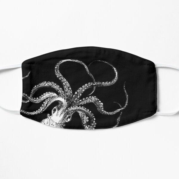 Vintage Octopus Print Flat Mask