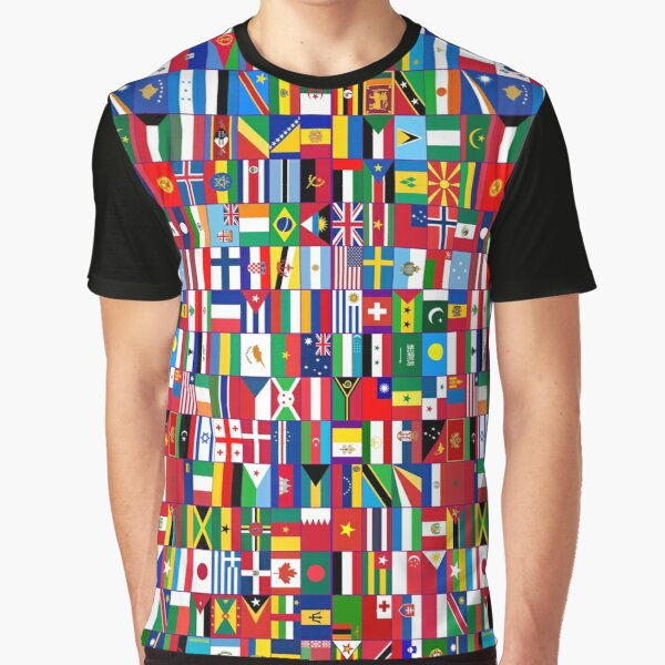 Flags of the world Graphic T-Shirt