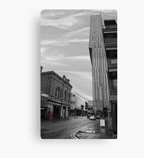 Beetham Tower Manchester, Urban street. Canvas Print