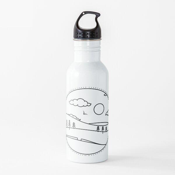 Better Days Black on White Water Bottle