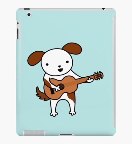 Puppy Playing Acoustic Guitar - Practice Makes Perfect  iPad Case/Skin