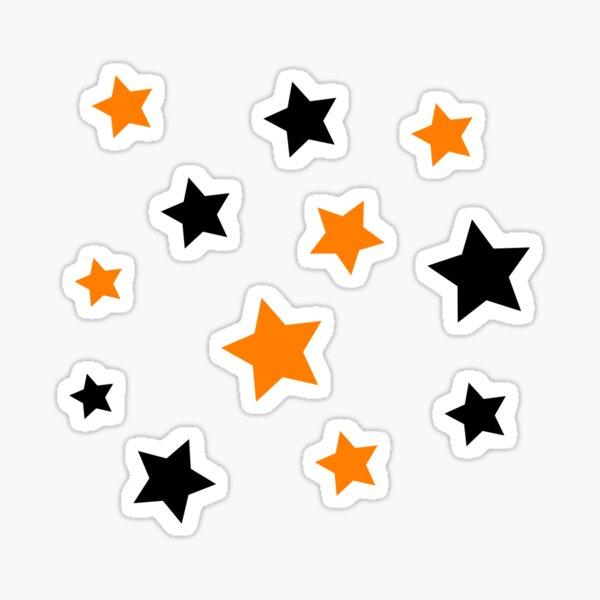 orange and black stars Sticker