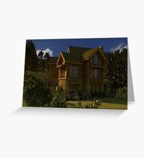 Canadian Dream home Greeting Card