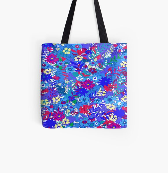 Springtime Blooms All Over Print Tote Bag