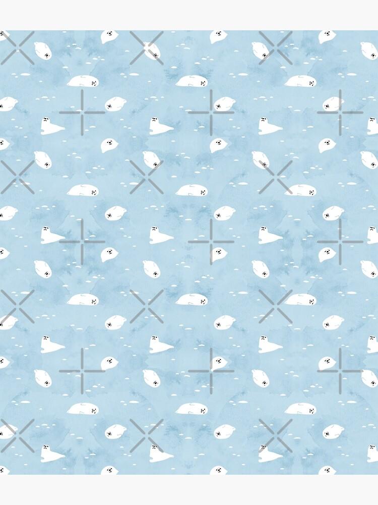 Baby Seal Pattern  by Miri-Noristudio