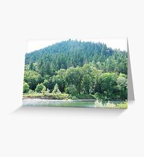 Green Hill Zone in Oregon Greeting Card
