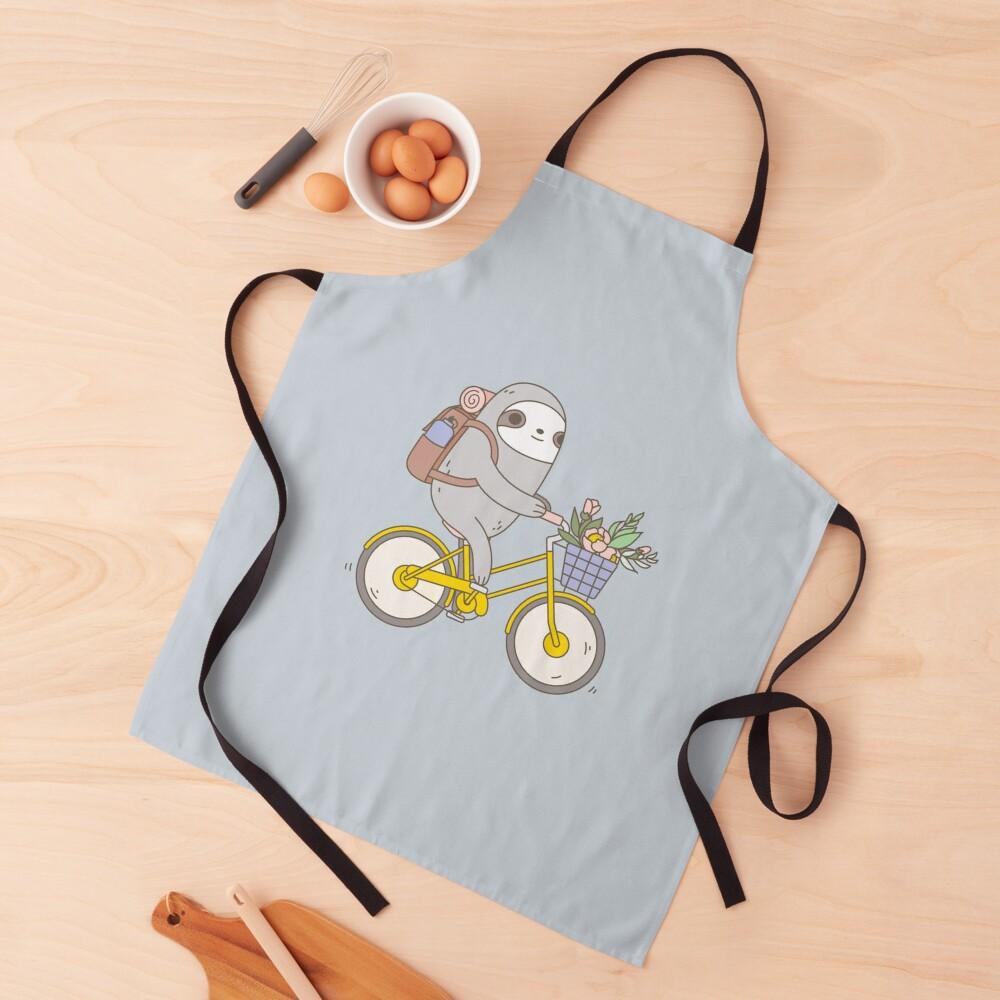 Biking Sloth  Apron
