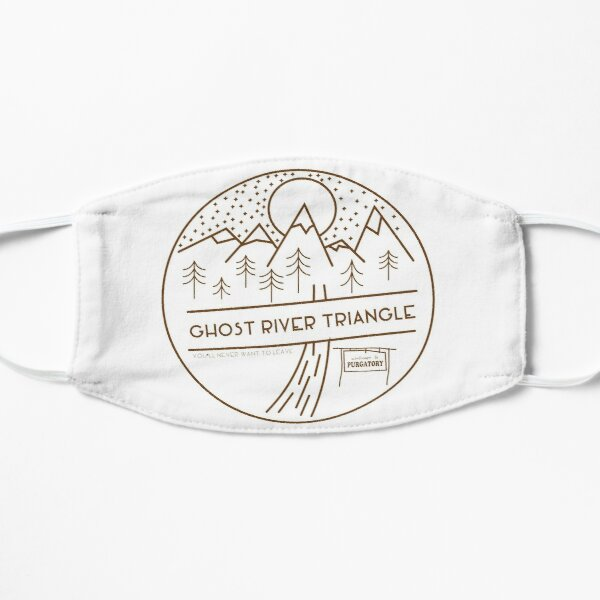 Ghost River Triangle Welcome Flat Mask