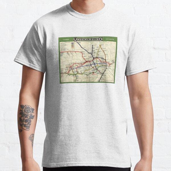 London Underground Map 1908 Classic T-Shirt