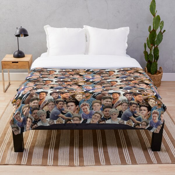 Niall Horan Collage Throw Blanket