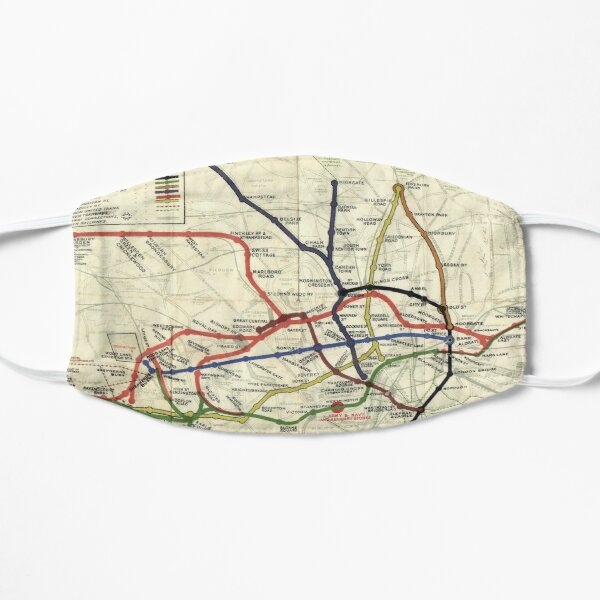 London Underground Map 1908 Mask