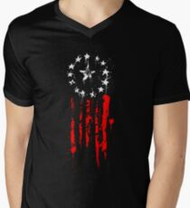 Old World Flag Men's V-Neck T-Shirt