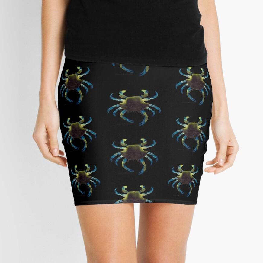 Blue Crab Mini Skirt