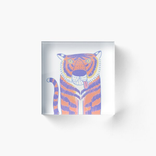 Bunter Tiger Acrylblock