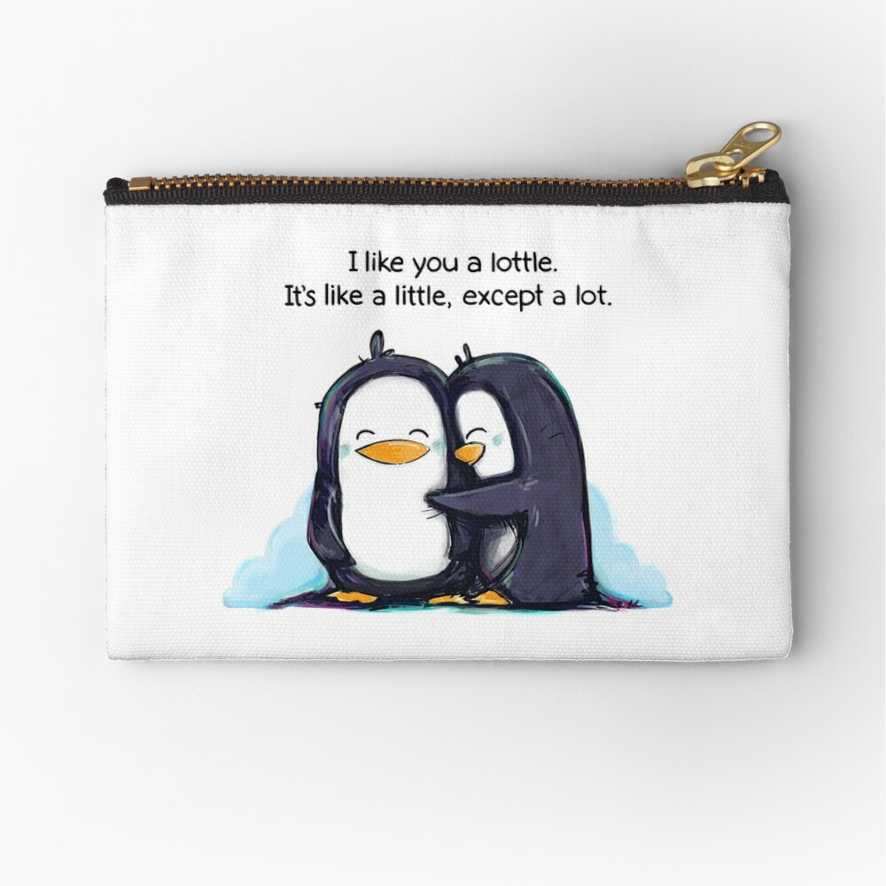 I Like You a Lottle Penguins Zipper Pouch