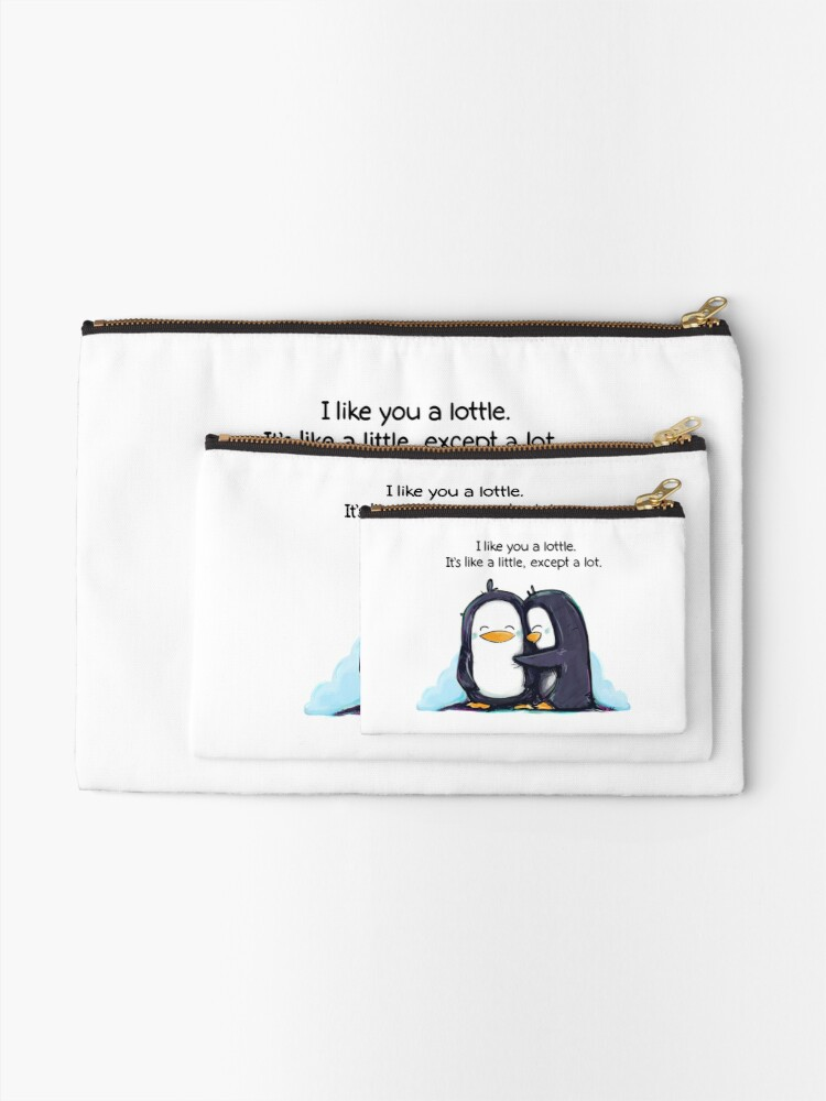 Alternate view of I Like You a Lottle Penguins Zipper Pouch
