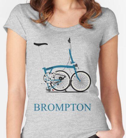 Brompton Folding Bike Women's Fitted Scoop T-Shirt