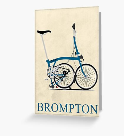 Brompton Folding Bike Greeting Card