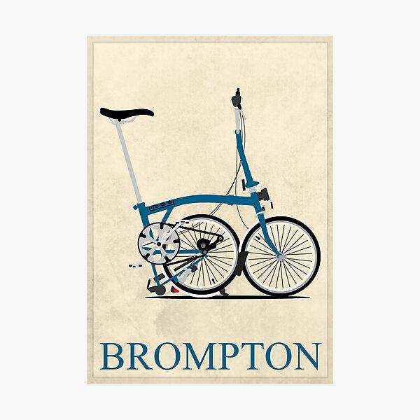 Brompton Folding Bike Photographic Print