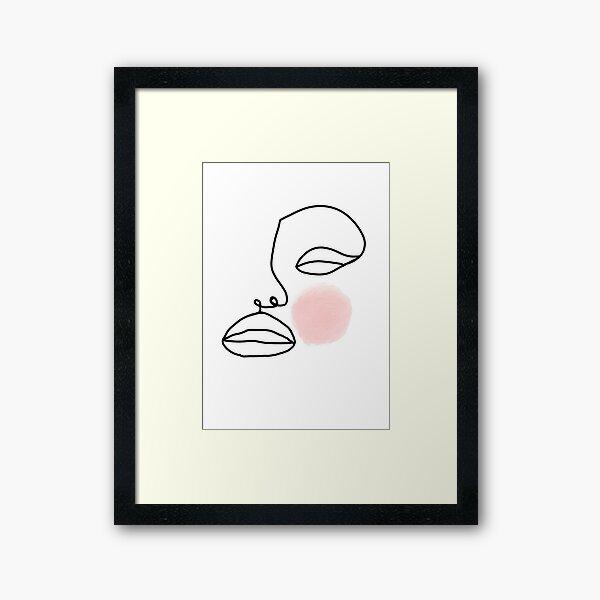 Single Line Woman Framed Art Print