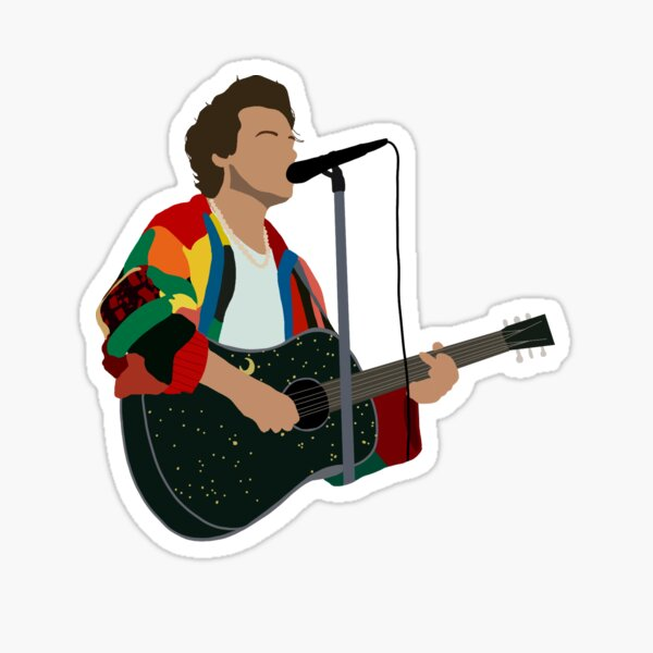 Harry Styles Patchwork Cardigan Sweater Sticker