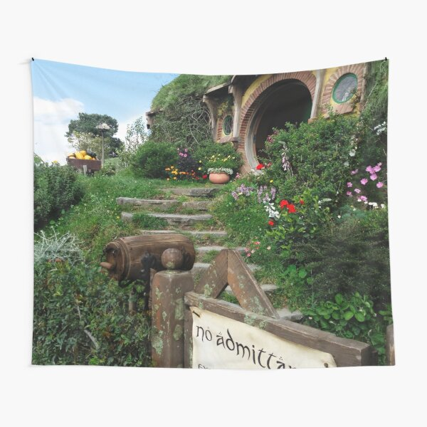 Bag End with No Admittance Sign Tapestry