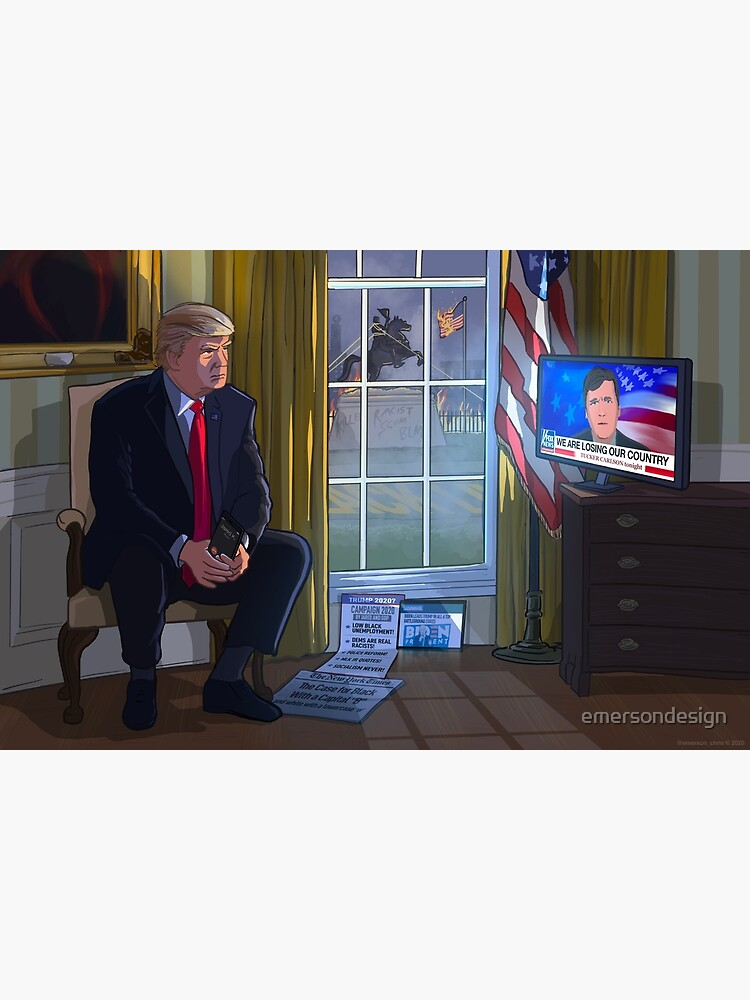 President Trump watching Tucker Carlson by emersondesign
