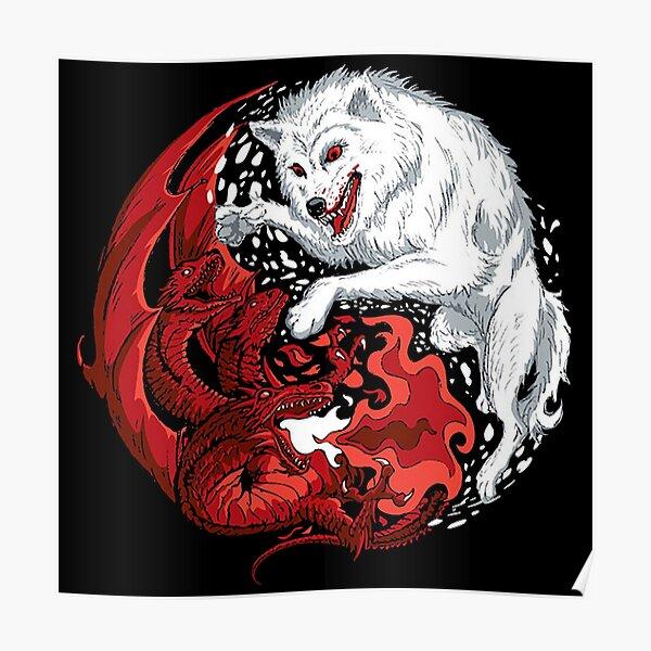 Dragon et loup Poster
