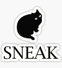 sneak black cat Sticker