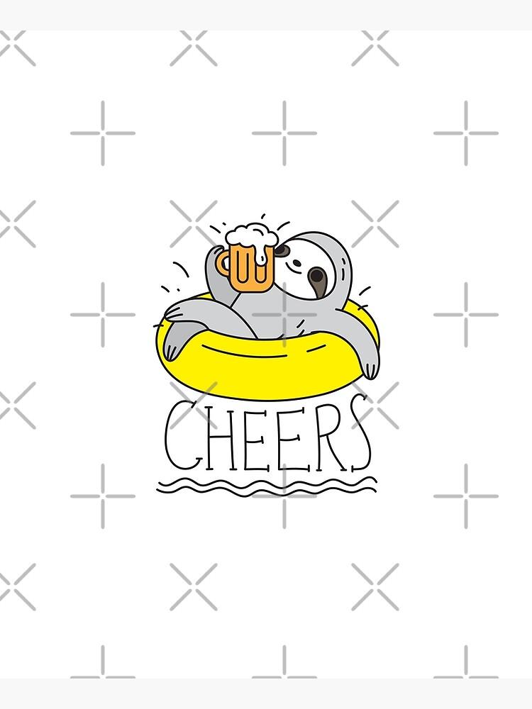 Beer Sloth  by Miri-Noristudio