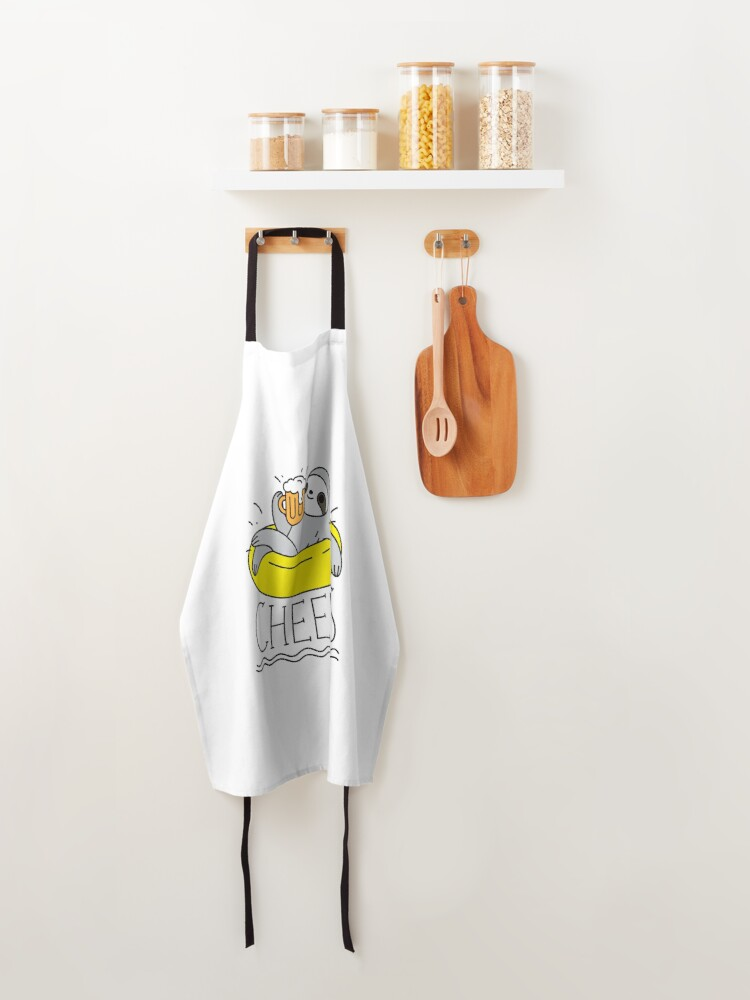 Alternate view of Beer Sloth  Apron