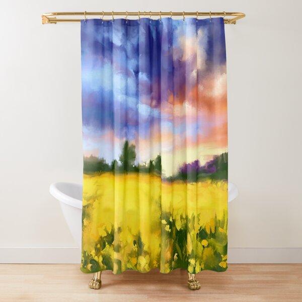 Golden field Shower Curtain