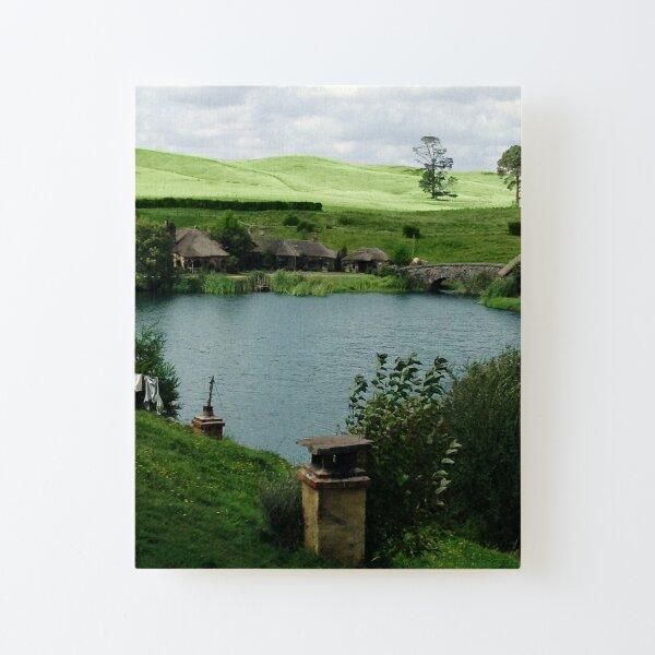 Lake at Hobbiton and the Green Dragon Inn Canvas Mounted Print