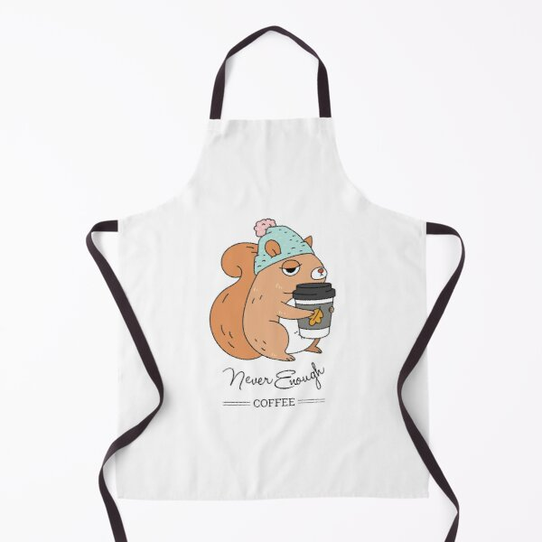 Squirrel, never enough coffee Apron